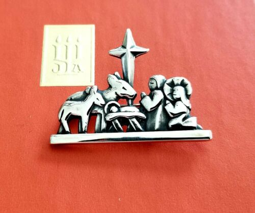 Retired James Avery Sterling Silver Nativity Pin Holy Family Pin