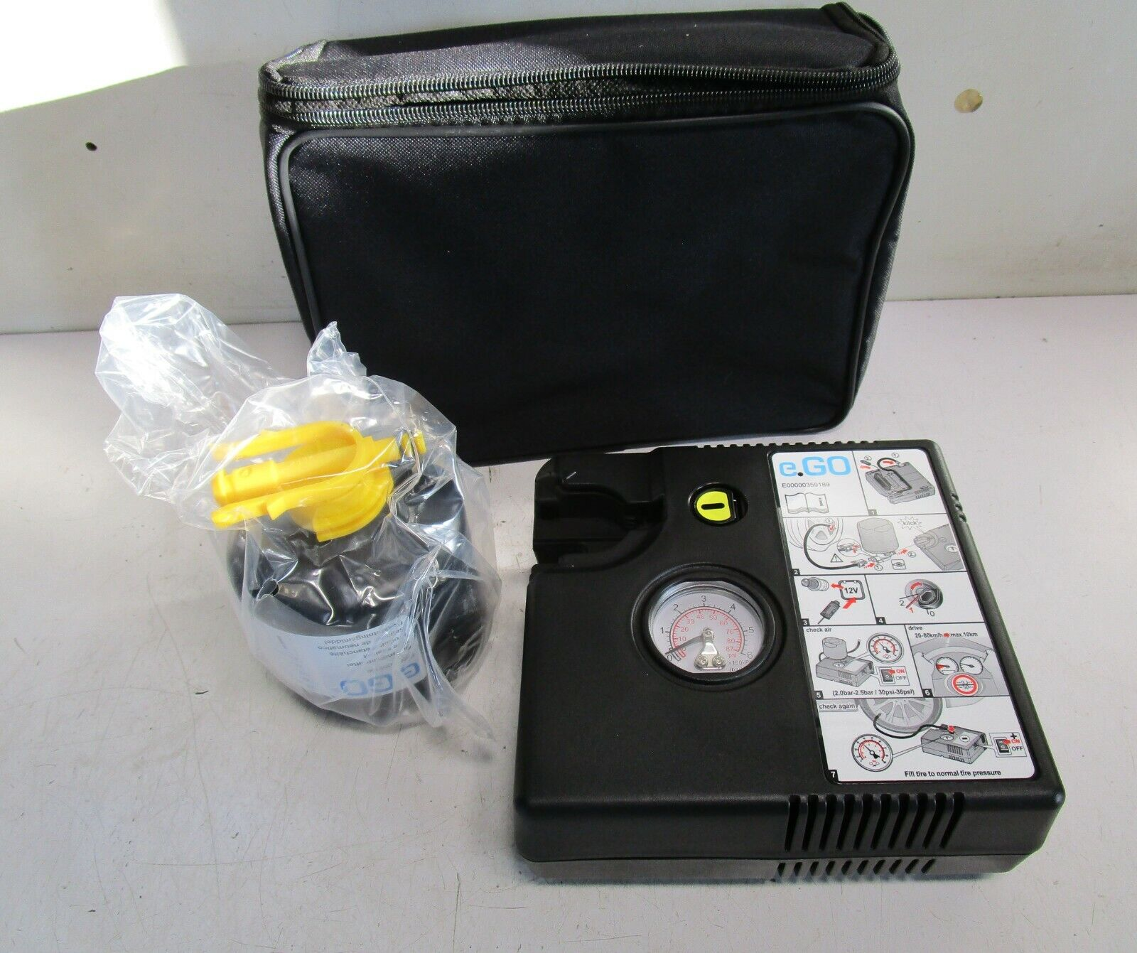 e.Go Life First Edition Pannenset Reifen elektrische Luftpumpe etc. E00000359189
