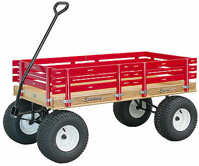 LARGE AMISH BEACH & GARDEN WAGON 6½ Wide Off Road Tires * 4 Color Choices * USA