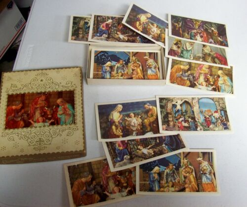 Vintage Christmas Cards Unused in Box - Nativity Jesus
