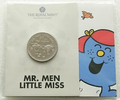 2021 Royal Mint Mr Men Mr Strong Little Miss Giggles £5 Five Pound Coin Pack