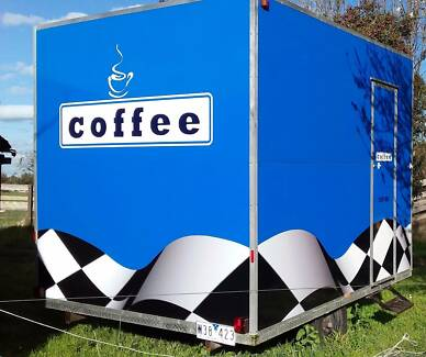 Mobile Coffee Trailer - Ready for your logo and events