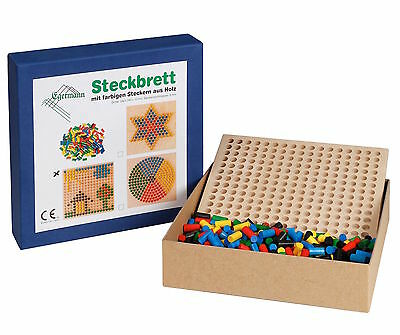 Steckspiel Steckbrett Holzsteckspiel REIHE 24 x 24 Steckspiele von Egermann