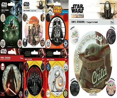 Star Wars Vinyl Stickers The Mandalorian Pyramid New Disney+ Darth Vader UK