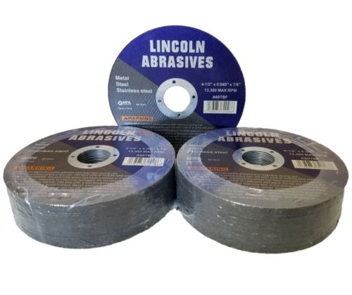 """50 Pc 4-1/2"""" x .040"""" x 7/8"""" Cut off Wheels Stainless Steel Metal Cutting Discs"""