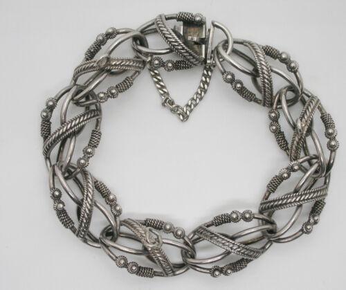 Vintage Peruzzi? 800 Silver Charm Bracelet Sz 7
