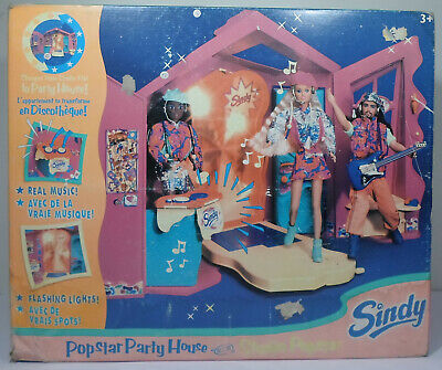 HASBRO VTG 1996 SINDY POPSTAR STUDIO DOLL PARTY HOUSE EUROPEAN MISP SEALED RARE