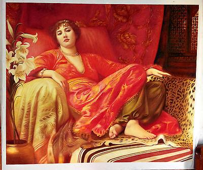 Ölbilder Ölgemälde Gemälde Passion von  Frank Francis Bernard Dicksee 50x65cm.