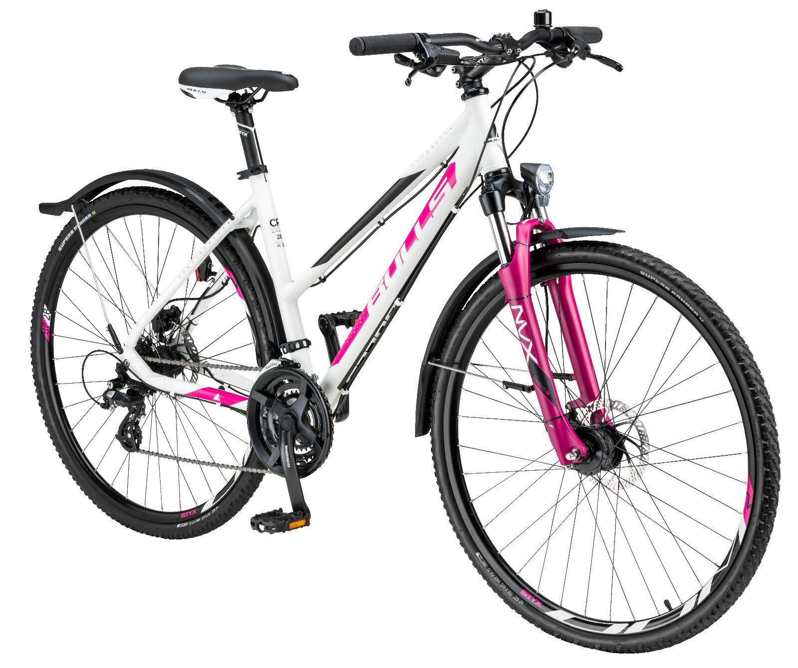 BULLS CROSSBIKE STREET Damen Shimano Crossrad Trekking Fahrrad Nabendynamo 48cm