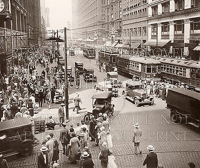 1920s downtown Chicago, State Street photo picture CHOICE 5x7 or request 8x10 (State Street Downtown Chicago)