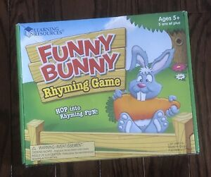 BRAND NEW Learning Resources Funny Bunny Rhyming Game