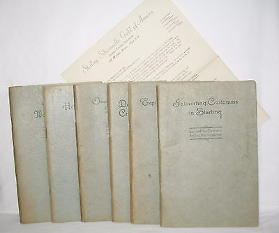 Marketing Units (Course of Selling Sterling Silver Units 1-6 1927 by Sterling Silversmiths Guild  )