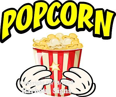 Popcorn Decal Choose Your Size And Color Concession Food Truck Sticker M