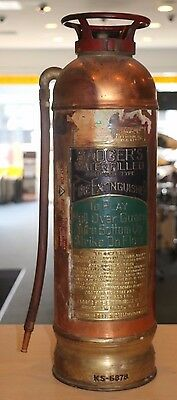 Vintage Badger's Water Filled Cartridge Type Copper Fire Extinguisher KS-6878