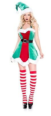 Music Legs North Pole Santa's Little Helper Sexy Elf Women's Costume Dress - Norths Kostüm