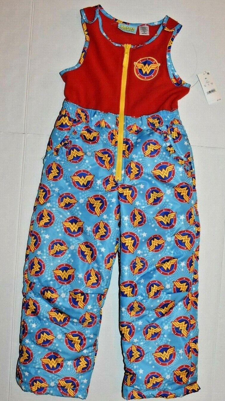 NWT GIRLS Wonder Woman Snowsuit X Small Fleece Waterproof Pa