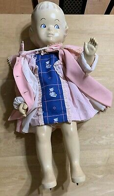 Adorable Vintage Toddler Girl Mannequin-dressed In Toddler Clothing-no Shoesock