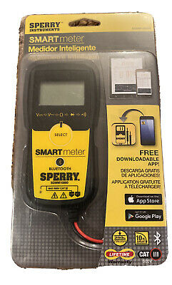 Sperry 5-function Digital Smart Multi-meter With Bluetooth Cat Iii 600v Logger