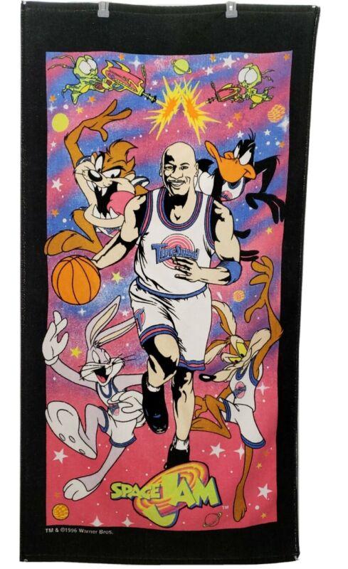 VINTAGE 1996 SPACE JAM Michael Jordan Warner Brothers Looney Tunes Beach Towel