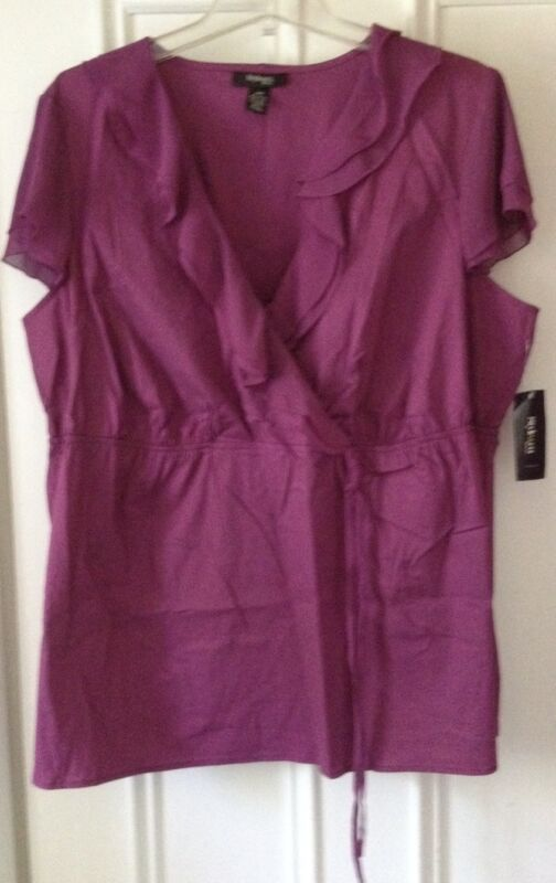 MACY'S STYLE & CO PLUS-SIZE PLUMBERRY CASUAL TOP - 20W - BRAND NEW! $1 SHIPPING!
