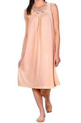 Long Sleeveless Nightgown (Shadowline Petals Sleeveless Nightgown Style 37280 40