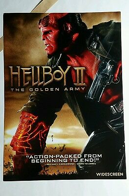 HELLBOY II THE GOLDEN ARMY PHOTO MOVIE 5x7 FLYER MINI POSTER (NOT A movie )