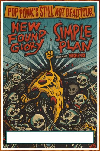 NEW FOUND GLORY | SIMPLE PLAN | KNUCKLE PUCK 2020 Tour Ltd Ed New RARE Poster