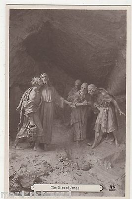 The Kiss of Judas, Religion Art Postcard, B522