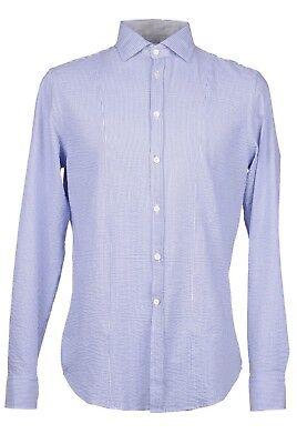 OBVIOUS BASIC - Paolo Pecora-Buttondown Azure Dress Shirt SLIM FIT Sz 15 3/4 M