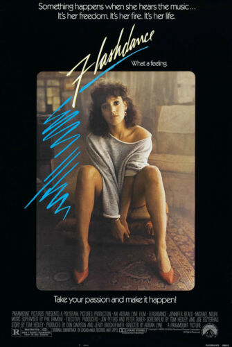 FLASHDANCE MOVIE POSTER 1 Sided RARE ORIGINAL ROLLED 27x40 JENNIFER BEALS