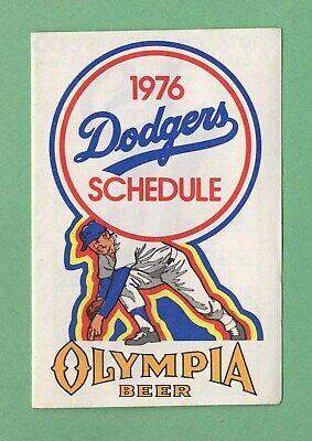 MLB BASEBALL 1976 LOS ANGELES DODGERS pocket schedule OLYMPIA BEER Los Angeles Dodgers Pocket