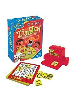 Thinkfun Zingo Bingo with a Zing Game Ages 4-8 NEW Sealed Packaging