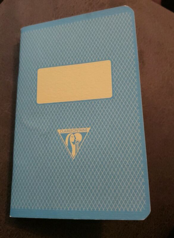 1 Clairefontaine Notebook 3.5 x 5.5 Ruled Blue France 90gsm