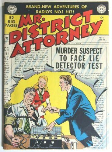 MR. DISTRICT ATTORNEY #13 * GOLDEN AGE COMICS * 1950 DC COMICS * LAW * CRIME