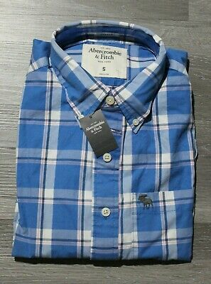 NWT A&F Men Long sleeve Classic button down shirt by Abercrombie & Fitch Size S