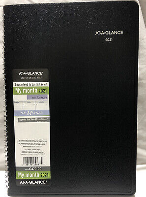 At-a-glance 2021 Day Minder Monthly Planner G470-00 12 X 8
