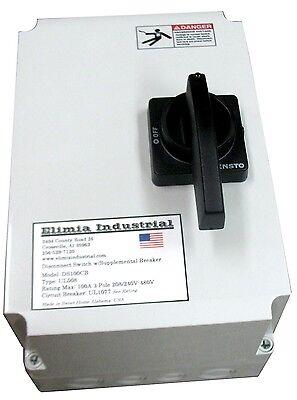 Elimia 100A Disconnect Switch NEMA 4X 60 Amp Circuit Breaker 208-230 480V