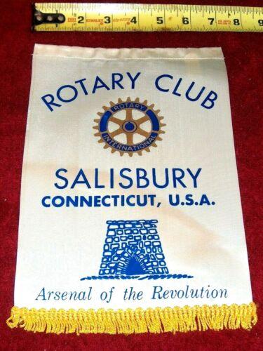 VINTAGE Rotary International Club wall banner flag      SALISBURY    CONNECTICUT