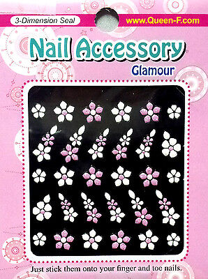 3D Colorful Decal Stickers Nail Art Manicure Tips DIY Decoration Korea  on Rummage