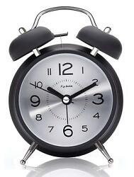 4 Twin Bell Alarm Clock for Heavy Sleepers,with Backlight, Loud Alarm Clock