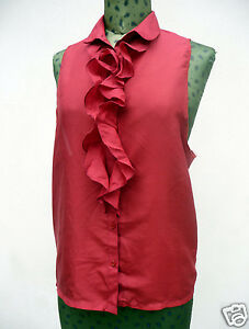 Gilet-rosso-rubino-in-seta-con-ruches-L-handmade-red-silk-waistcoat