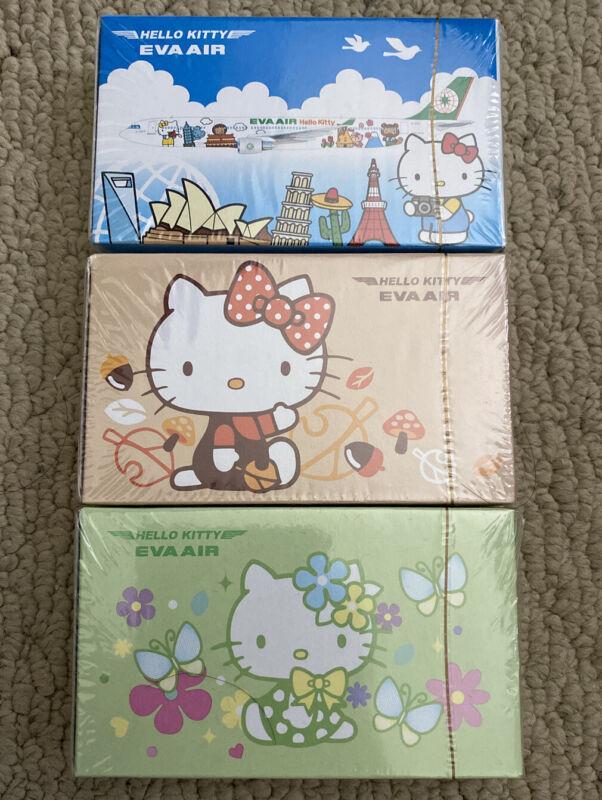 EVA Air x Sanrio Hello Kitty poker playing cards lot of 3 packs