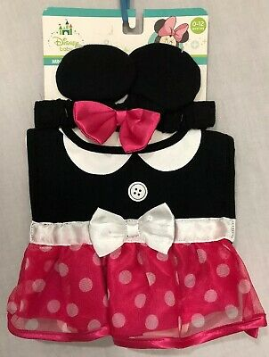 Disney Baby Minnie Mouse  Infant Headwear And Bib Set  - - Costume Baby