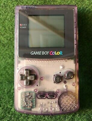 Nintendo Game Boy Color Clear Purple Original  CGB-001 Game Console + 1 Game