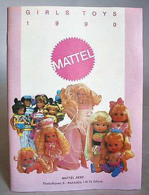 VINTAGE VERY RARE MATTEL 1990 GIRLS TOYS 56 PAGES CATALOG BARBIE CHERRY LIL NEW!