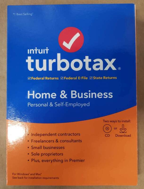 TurboTax 2019, Home & Business Federal Efile, for PC/Mac, New