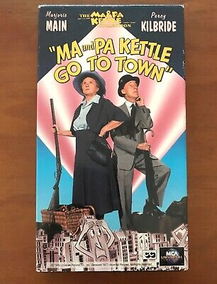 Ma and Pa Kettle Go to Town (VHS,