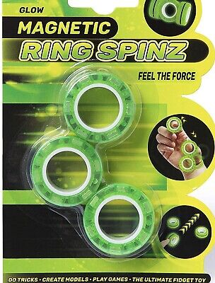 Glow Magnetic Ring Spinz - Magnetic Rings Fidget Toy - Stress Relief for Anxiety