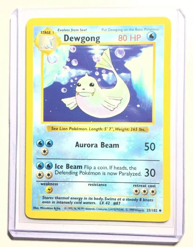Unplayed $1 Combined Shipping NM // M Base Pokemon Card Dewgong 25//102