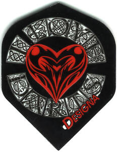 I-Love-Darts-with-Celtic-Heart-and-Lettering-Dart-Flights-3-per-set